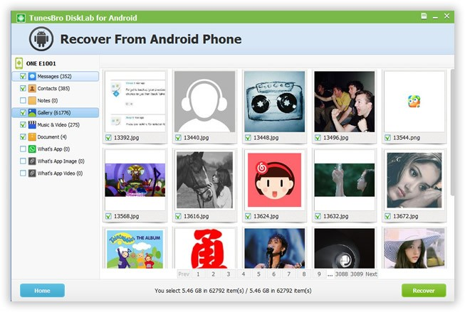 v - How to Recover Deleted Photos on Android using TunesBro Data Recovery