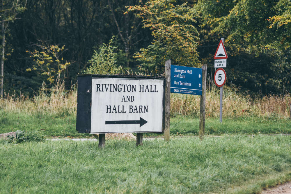 Rivington hall & Hall barn this way