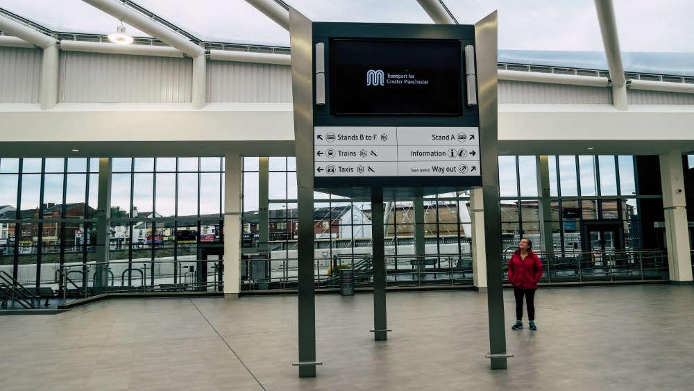 Bolton bus station, England.