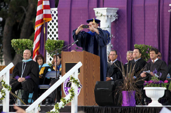 Dr. Robert Cargill snaps photos of the 2015 graduating class of Madera South High School. PHOTO BY JACK PORTER/BIG VALLEY NEWS (More: http://www.bigvalleynews.com/index.php?option=com_content&view=article&id=7367)
