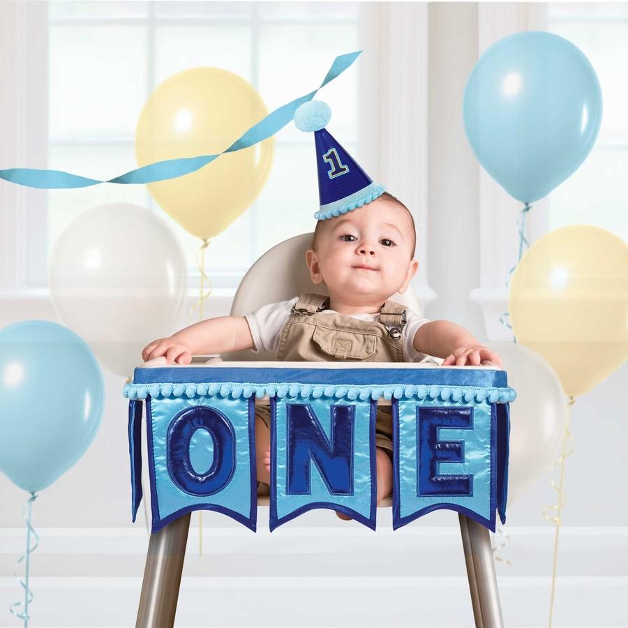 1st Birthday Boy Deluxe Highchair Kit Big W