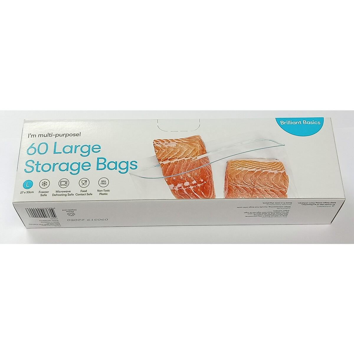 brilliant basics zip lock bag 60 pack