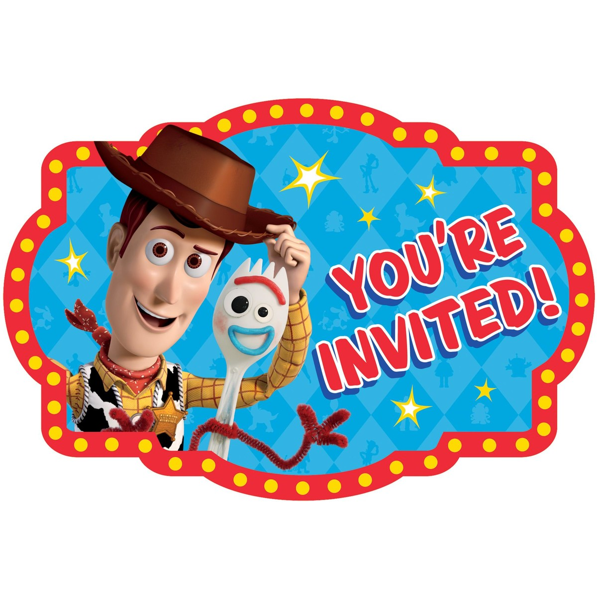 Toy Story 4 Postcard Invitation 8 Pack