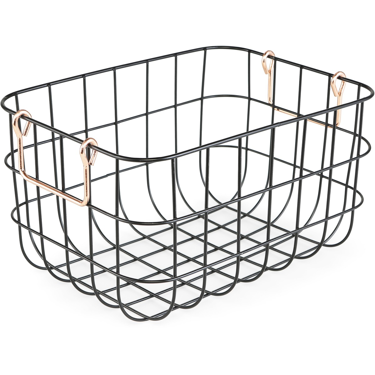 House Amp Home Wire Basket With Copper Handle