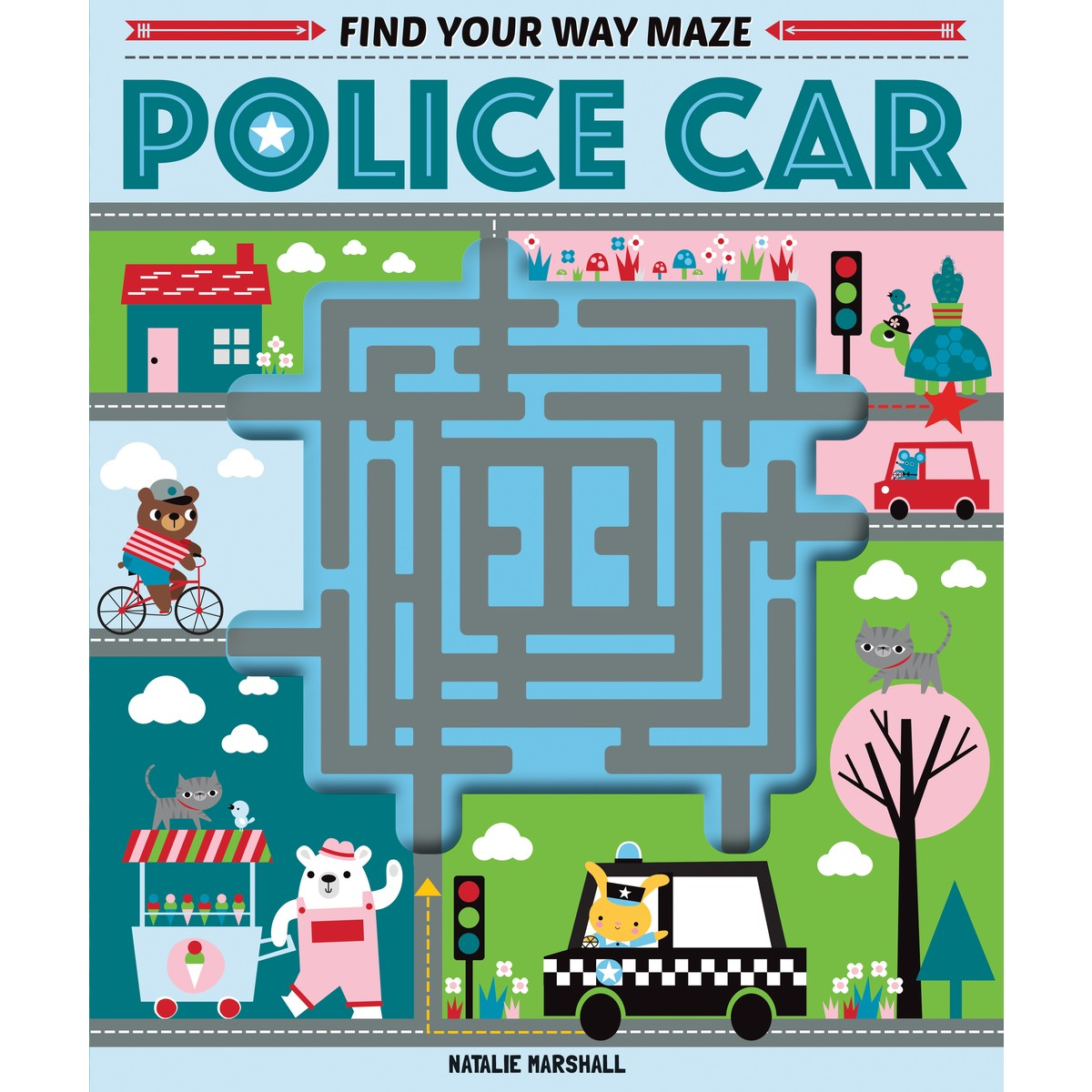 Find Your Way Maze Police Car