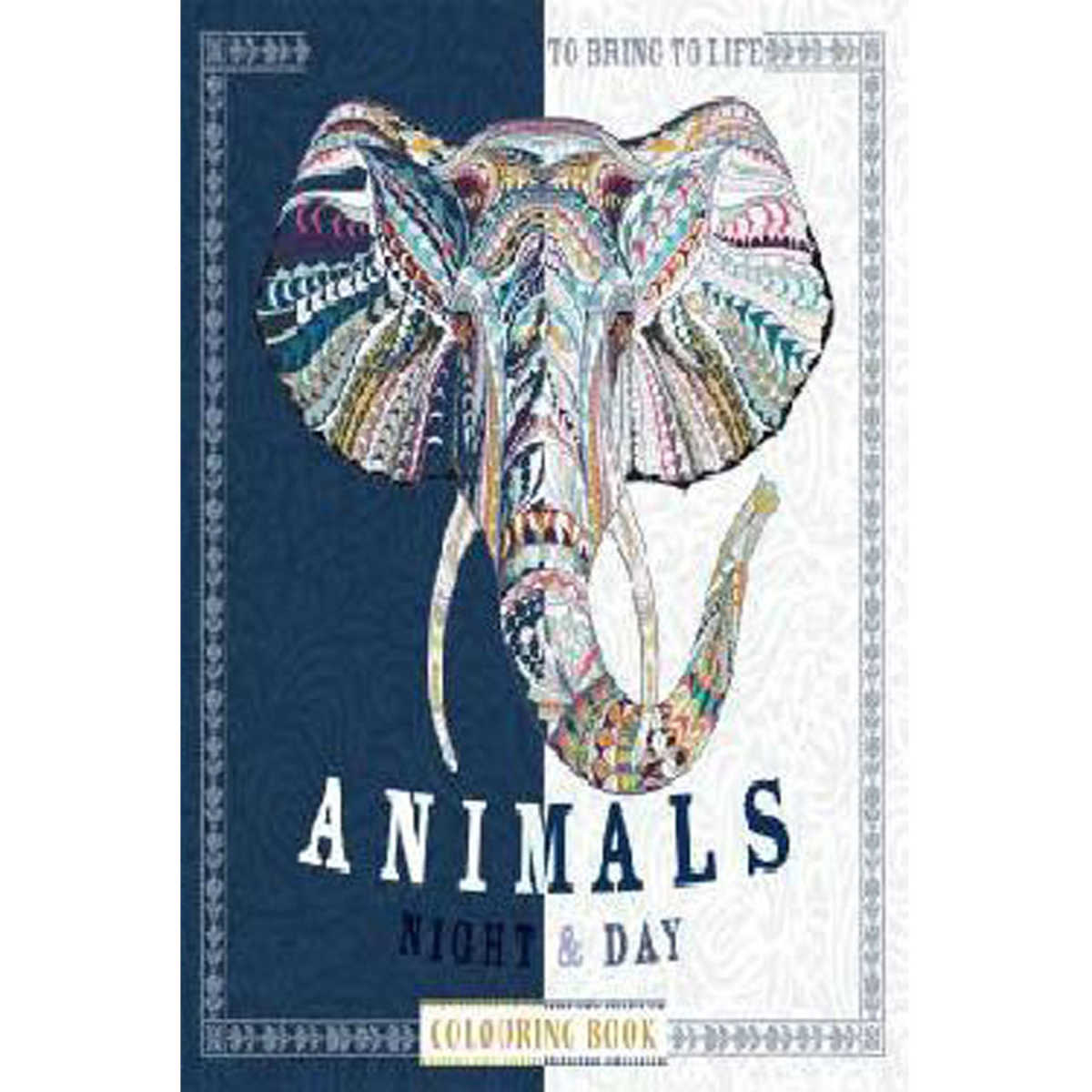 Animals Night And Day Colouring Book