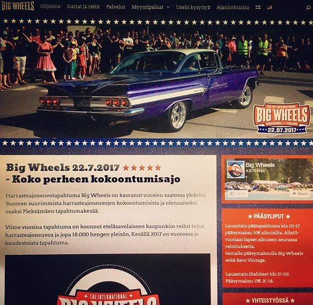 Big Wheels' official website at www.bigwheels.fi, link in our bio.