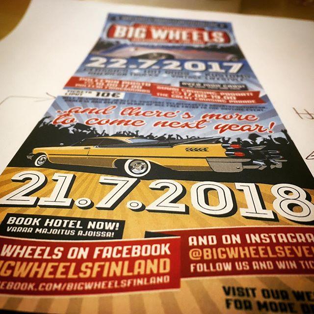 Big Wheels keep on turnin'! Päivämäärä 2018 on myös selvillä. Ennakkobrosyyriin tuli nyt Dodge, koska seuraava people's choice valitaan vasta 22.7.2017 :) Save the date also for 2018.