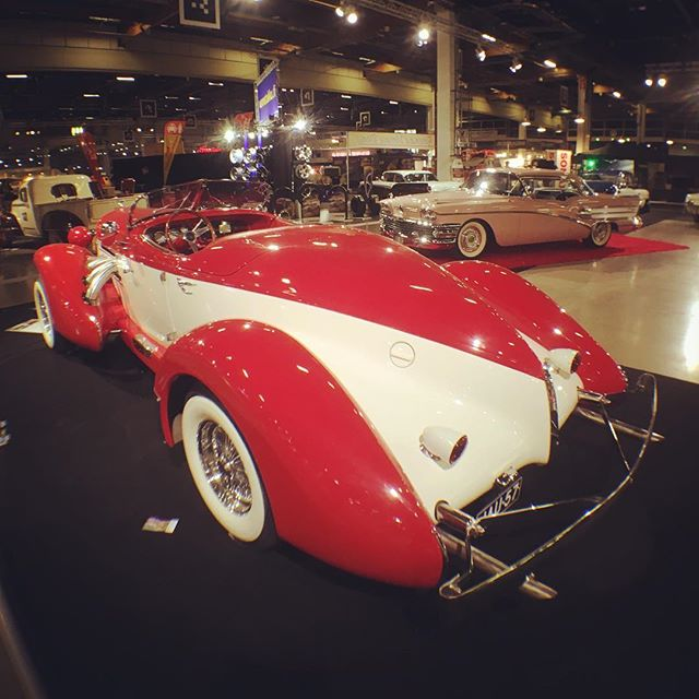 "Auburn Boattail Speedster ""1935"" at American Car Show, Helsinki."