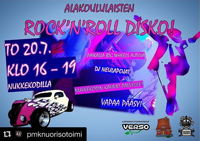 regram from @pmknuorisotoimi, Big Wheels week has lot to offer, also a unholy combination of r'n'r & disco for the school-aged kids. BW-viikolla tapahtuu ️