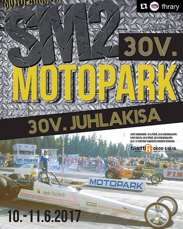 Valmistuessaan Euroopan ensimmäinen kiihdytysrata, Virtasalmen Motopark, täyttää nyt kesäkuussa 30 vuotta! Juhlakisa tulevana viikonloppuna by @fhrary .