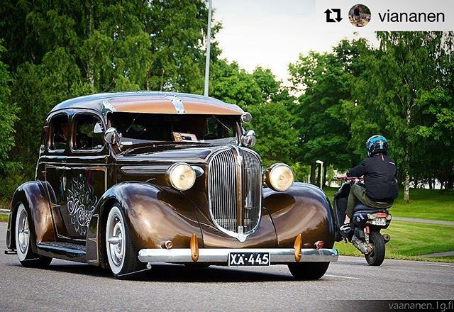 repost from @viananen, scooter photobombing at our cruising parade, Big Wheels 22.7.2017