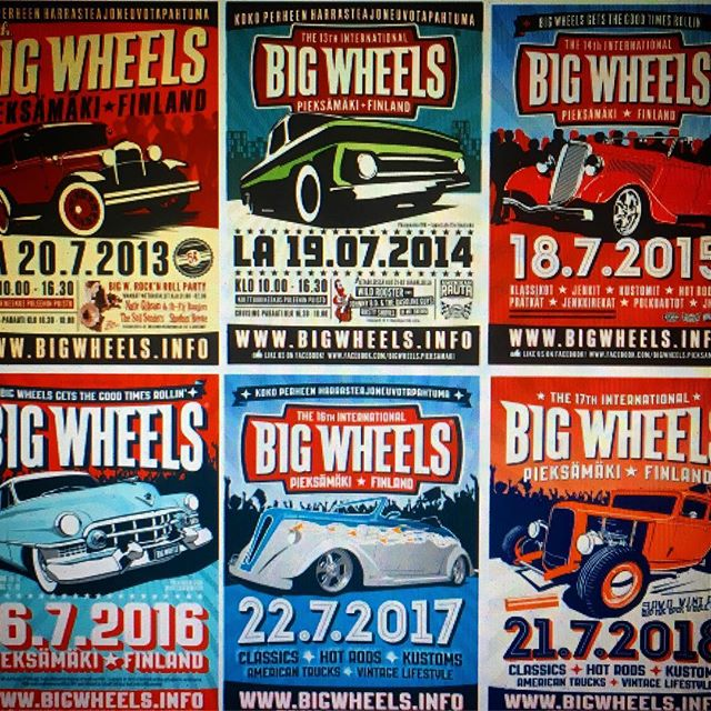 Do you collect our posters? show us your collection with #bigwheelsfinland, keräätkö julisteitamme? näkisimme mieluusti kuvia :)