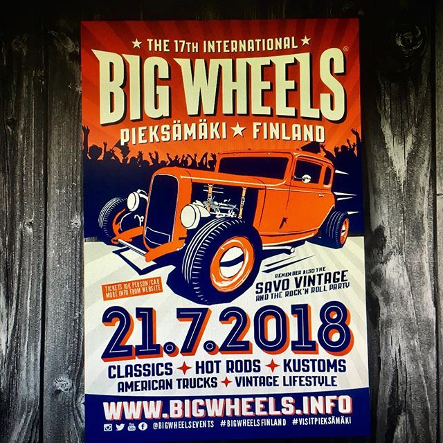 Big Wheels 21.7.2018 Pieksämäki, Finland.