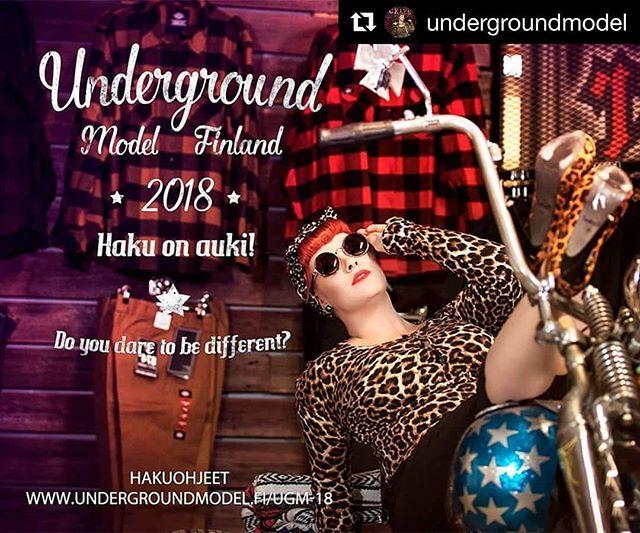 @undergroundmodel ・・・ Underground Model 2018 haku on nyt auki! Hakuohjeet löydät: www.undergroundmodel.fi/ugm-18/   Kuvassa viime vuoden voittaja @goldiebow  Kuvaaja @shrelics