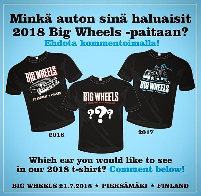 Which car you would like to see in our 2018 t-shirt?