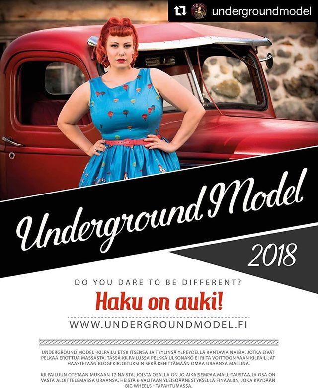 @undergroundmodel ・・・ Underground Model 2018 haku käy kuumana ja olemme saaneet jo useita upeita hakemuksia  Joko lähetit omasi?