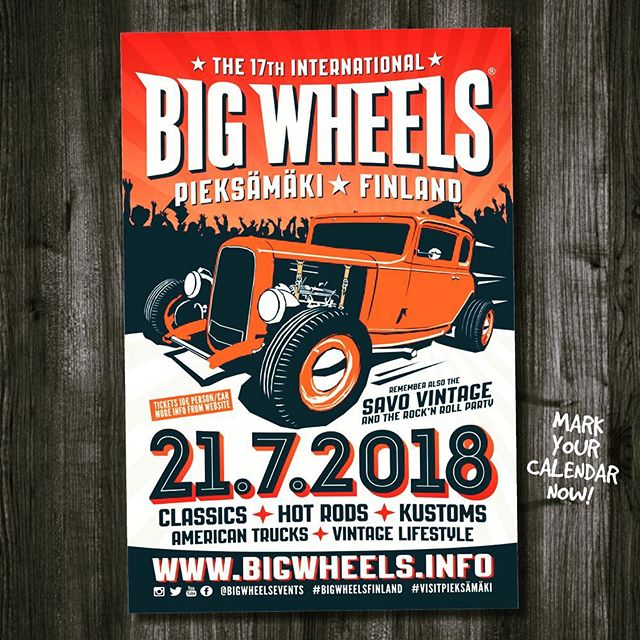 Make sure to mark your calendar for 17th Big Wheels 21/72018!