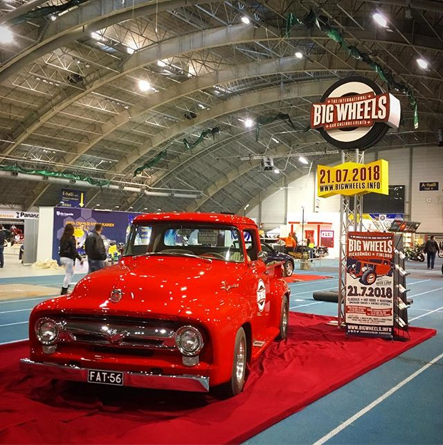 Big Wheels @bigwheelsevents  stand at Hot Rod & Rock Show, Tampere, Finland