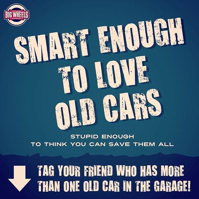 Tägää tyyppi, jonka tallista löytyy useampi vanha auto! Tag your friend who has more than one old car!