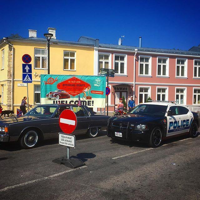 Mikä meininki? Amerikan meininki! American Beauty Car Show, Haapsalu, Estonia.