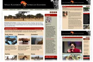 Wild Rainbow African Safaris  |  Home + Sub Pages