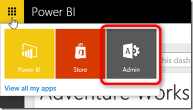Power BI Admin Settings
