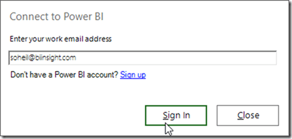 Power BI Publisher for Excel 02