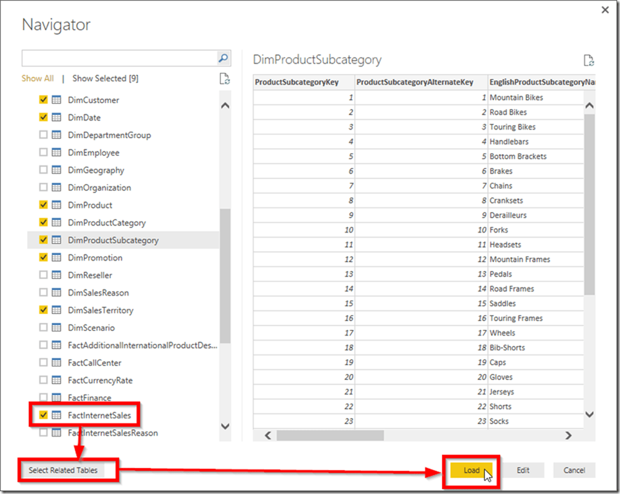 Power BI get data from SQL Server 02