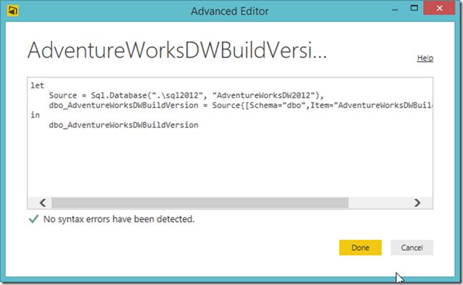Power BI Advanced Editor 02
