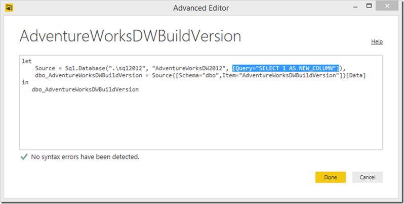 Power BI Advanced Editor 03