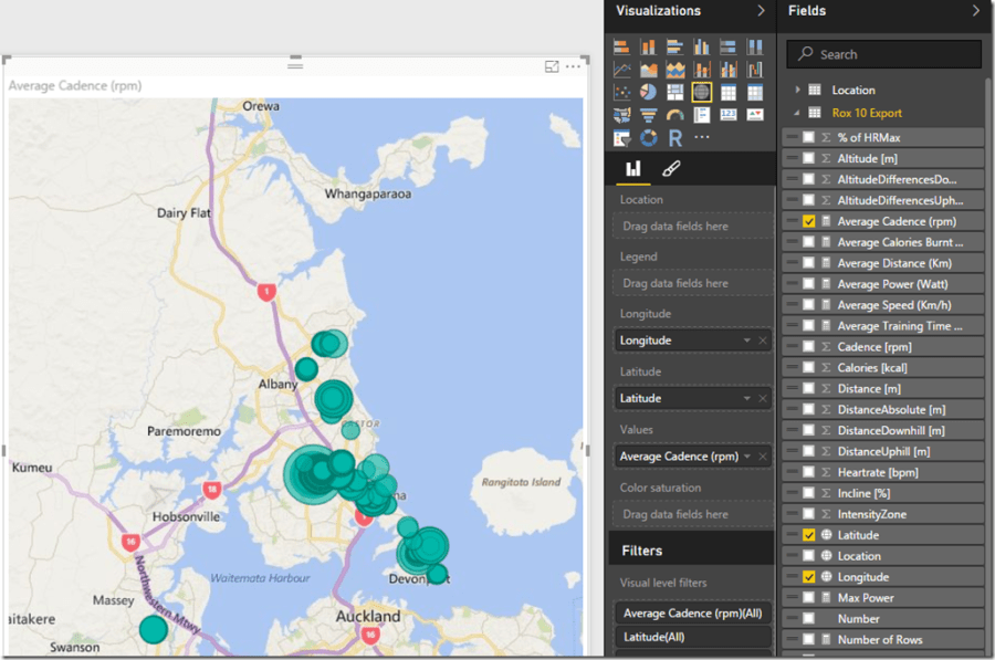 Power BI Map using Coordinates