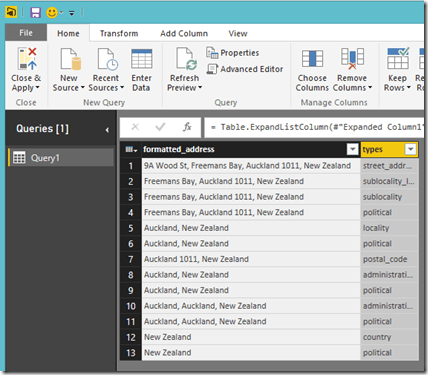 Power BI Desktop Query Editor