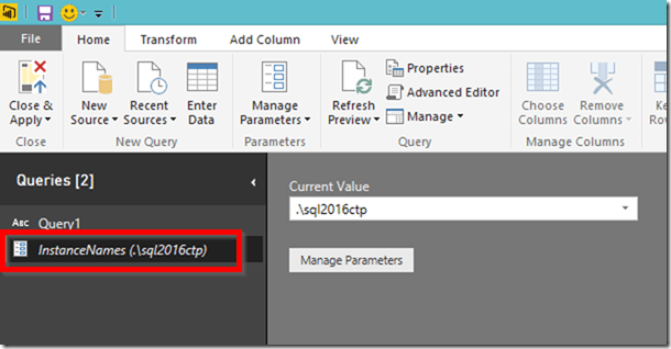 Power BI Desktop Query Parameters