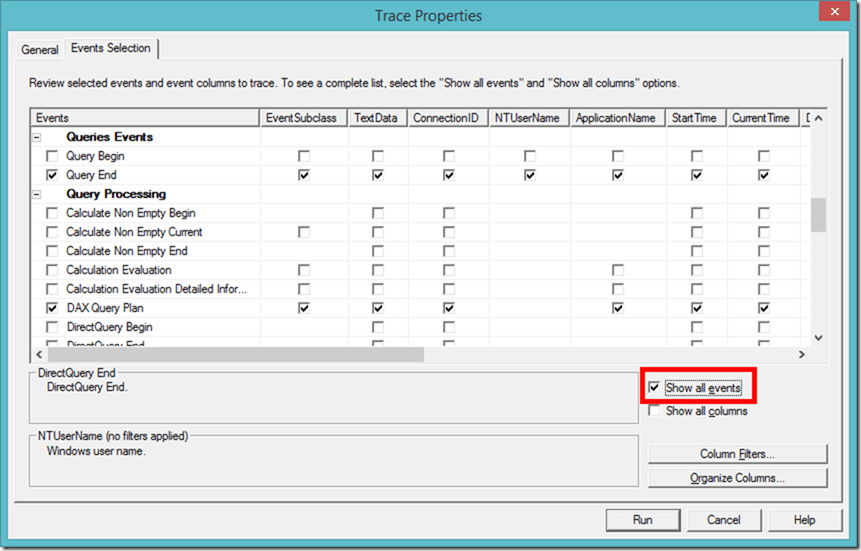 Profiling Power BI Desktop Model using SQL Server Profiler