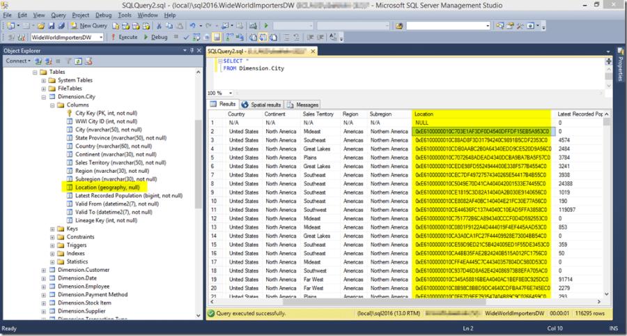 SQL Server Geography Data Type