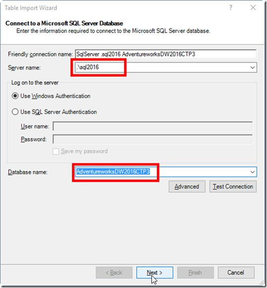 Power Pivot Get Data From SQL Server