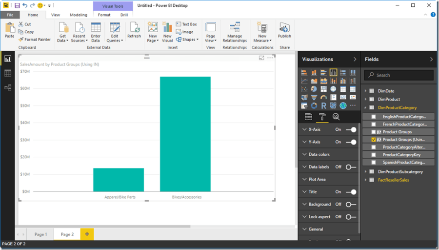 Grouping in Power BI Desktop