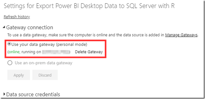 Export Power BI Service Data to SQL Server with R
