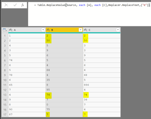 Conditionally replace values in Power Query