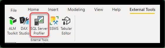 Registering SQL Server Profiler as External Tool in Power BI Desktop