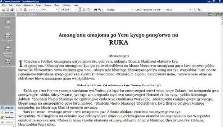 Het eerste stukje Bijbel in de Kabwa-taal: Lukas 1-2