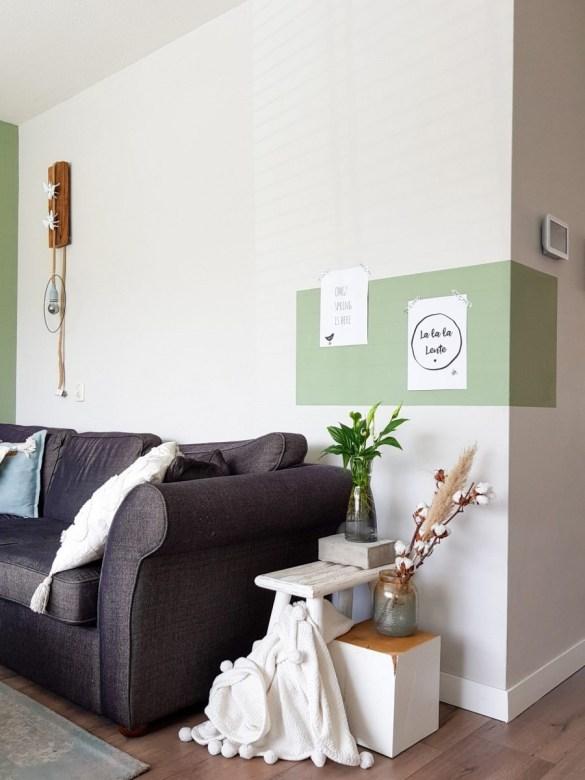 kleurvlak muur, kleurvlakken verven