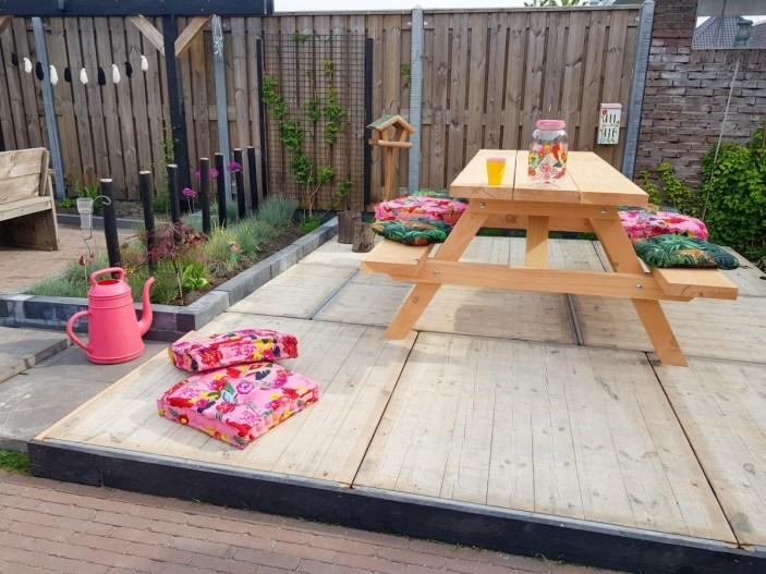 Steenschot terras maken