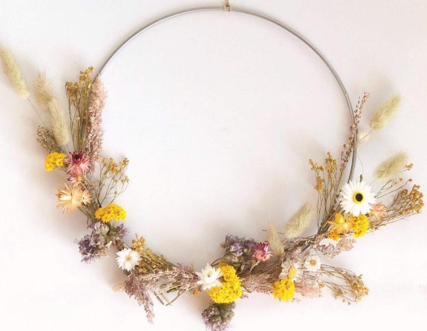 DIY droogbloemen krans