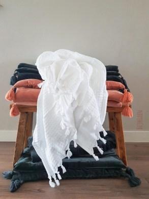 matraskussens, textielspray