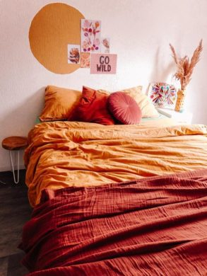 Kleurvlak muur slaapkamer