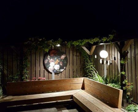 styling tips tuin, muurdecoratie tuin, tuin inspiratie, tuinverlichting inspiratie
