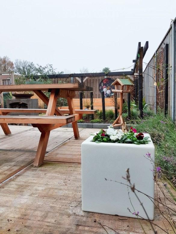 polyester plantenbak, tuin inspiratie