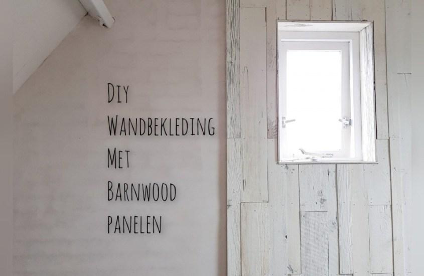 Barnwood wandbekleding van planken